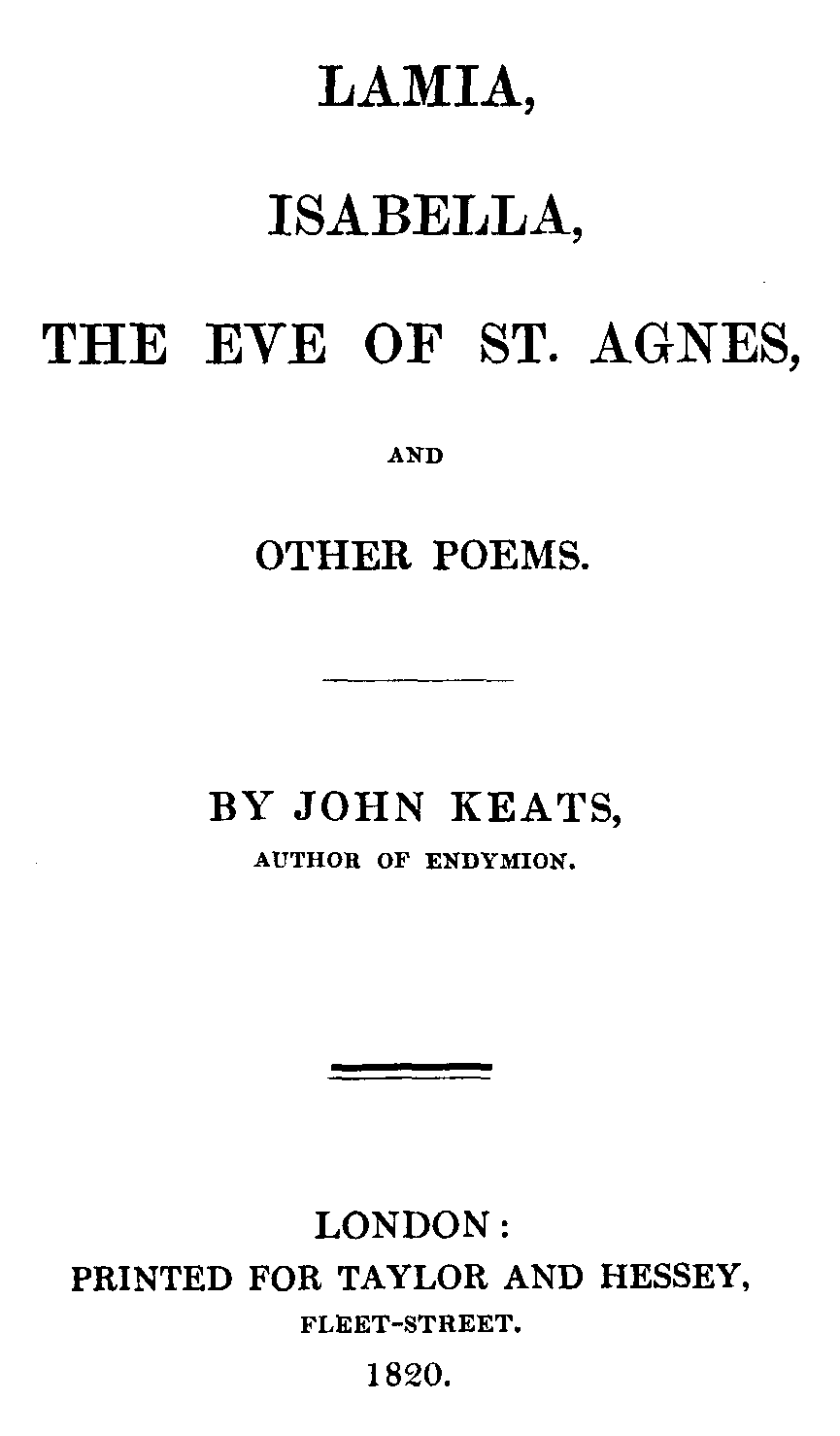 isabella john keats