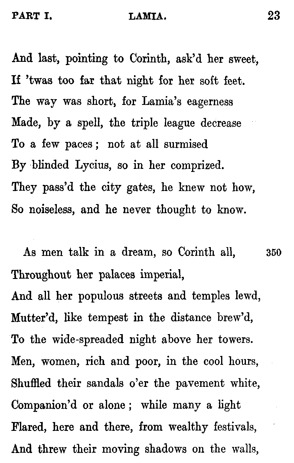 The Lamia, Part 7, The Laws of Magic