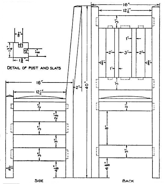 Chair Construction Drawings Details of Chair Construction