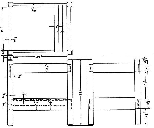 Chair Construction Drawings Mission Chair Construction