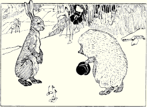 Frau schlachtet kaninchen