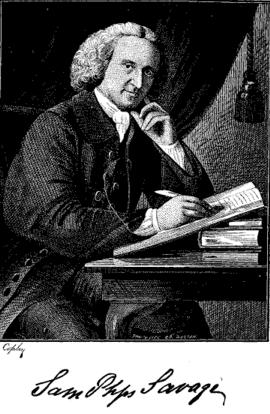 Signature, Samuel Phillips Savage