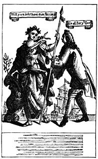A man takes a purse from Britannia.