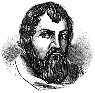 Portrait of a man's head.