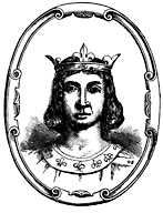A head-and-shoulders portrait of a crowned man.