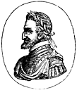 Left side view of a Roman-nosed man.