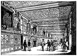 A very large interior corridor.