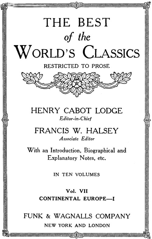 The project gutenberg ebook of the best of the worlds classics the best fandeluxe Choice Image