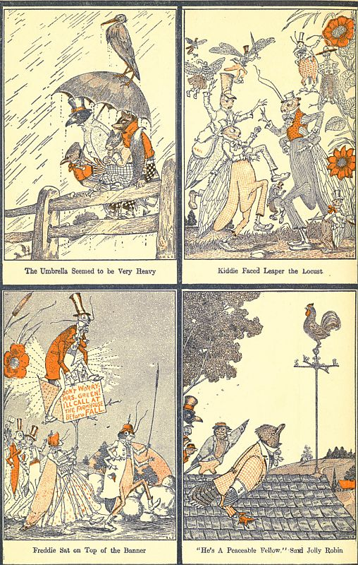 The project gutenberg ebook of the tale of kiddie katydid by arthur back endpapers left fandeluxe Image collections