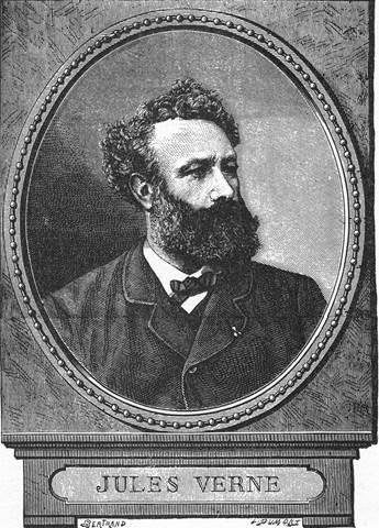 Bertrand's Portrait of Jules Verne, engraved by Guillaumot