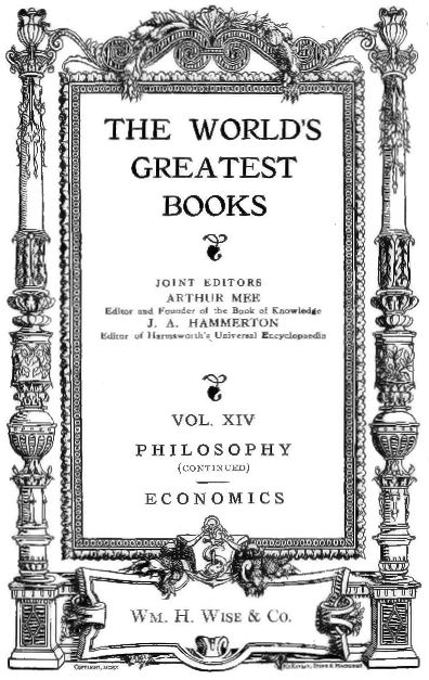 The Project Gutenberg eBook of The World s Greatest Books