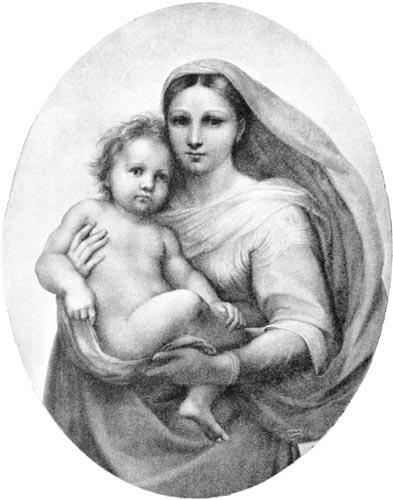 Raphael Sistine Madonna 2 Angels
