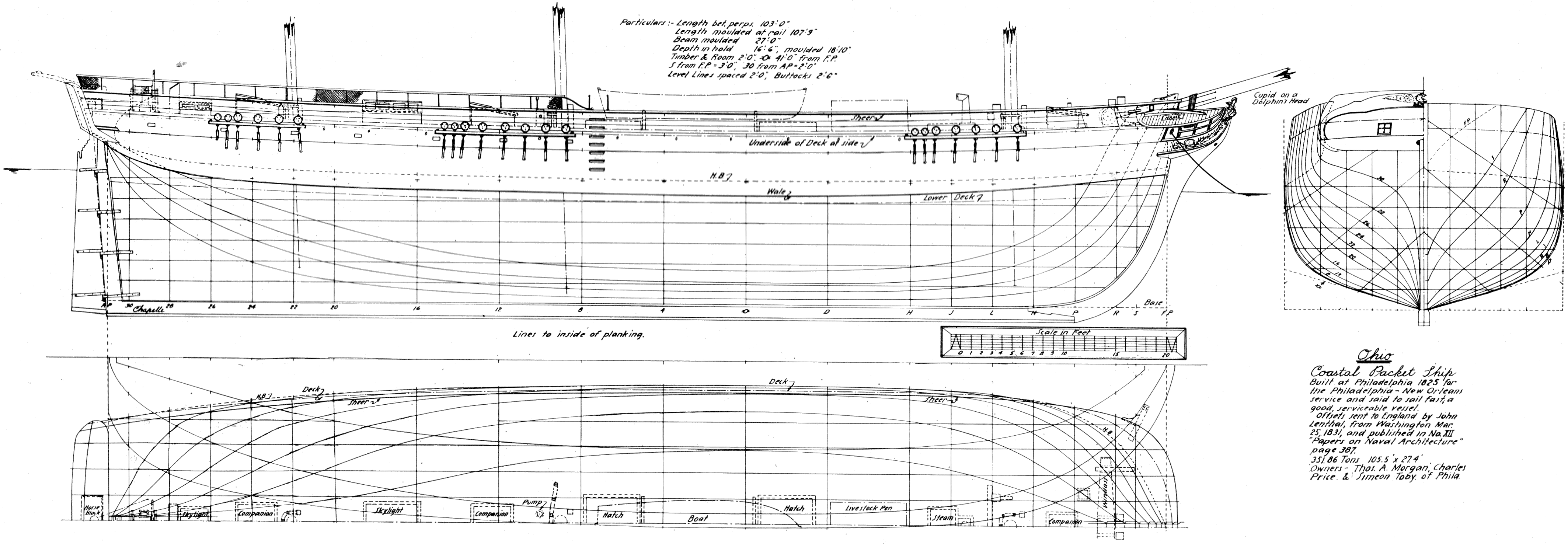 The Project Gutenberg Ebook Of Pioneer Steamship Savannah A Piping Diagram Ship Lines Coastal Packet Ohio Built At Philadelphia In