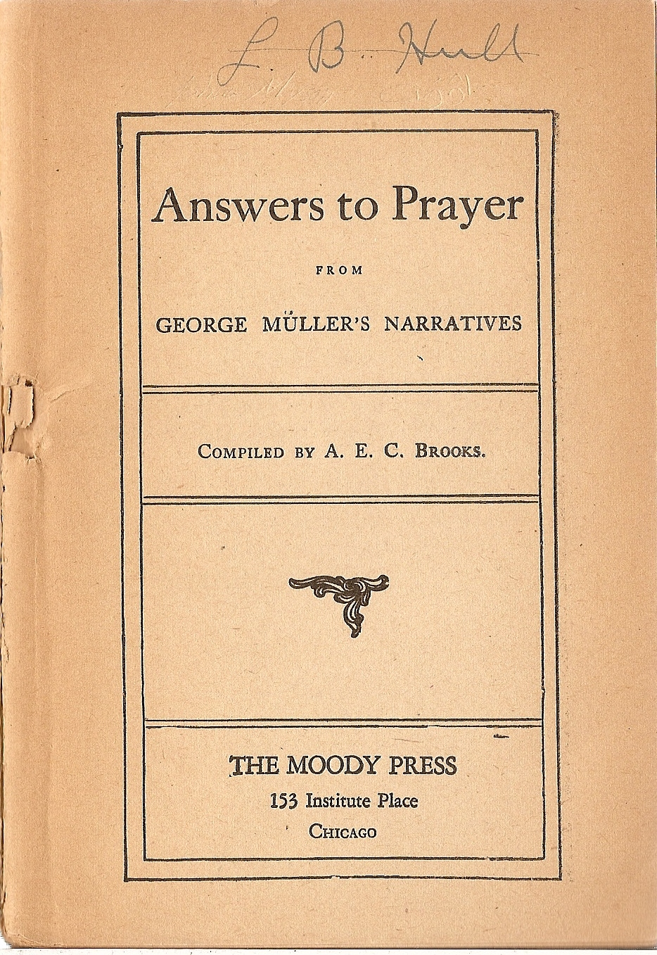The Project Gutenberg eBook of Answers to Prayer , by George