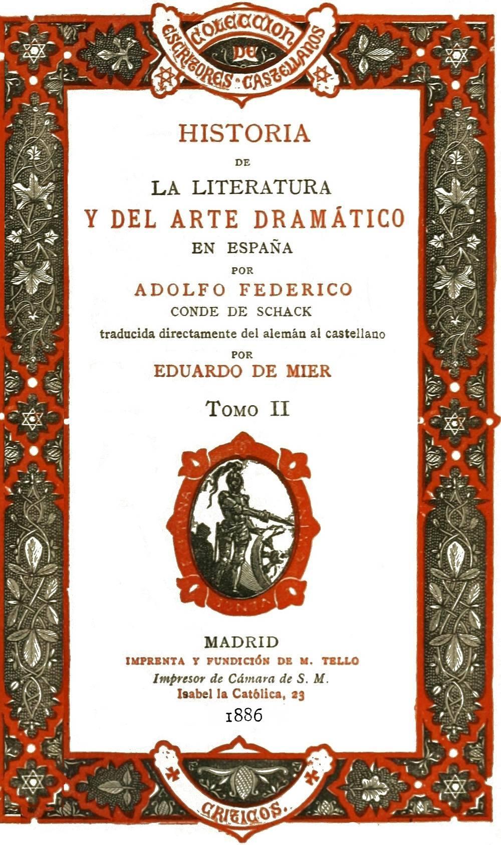 The Project Gutenberg eBook of Historia de la literatura y del arte ...