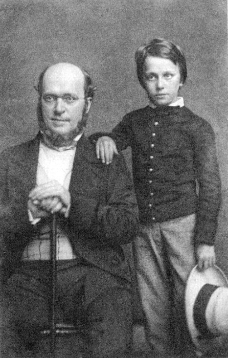 Henry James and his Father From a daguerreotype taken in 1854
