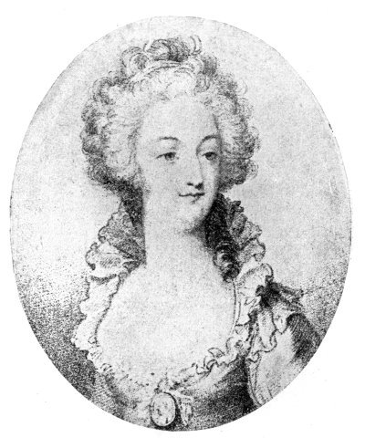 AN OLD PRINT OF   MARIE Marie Antoinette Black And White Painting