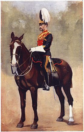 OFFICER OF THE NINTH LANCERS. Photo by Gregory & Co., London.