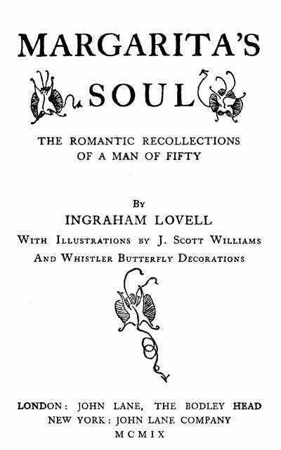 The Project Gutenberg Ebook Of Margaritas Soul By Ingraham Lovell