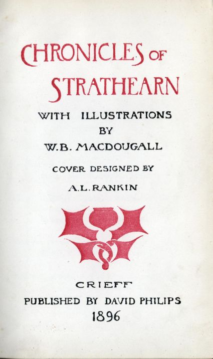 The Project Gutenberg E Text Of Chronicles Of Strathearn By Various