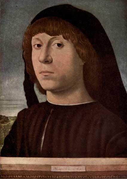 ANTONELLO DA MESSINA: PORTRAIT OF A YOUNG MAN