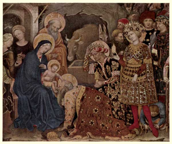 GENTILE DA FABRIANO: MADONNA AND CHILD, WITH THREE KINGS