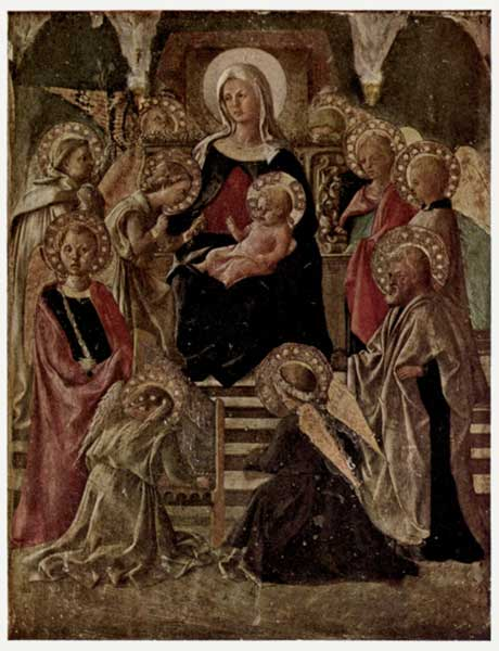 PESELLINO: MADONNA ENTHRONED WITH SAINTS AND ANGELS