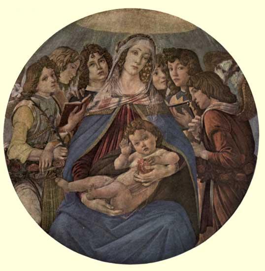 SANDRO BOTTICELLI: THE MADONNA OF THE POMEGRANATE