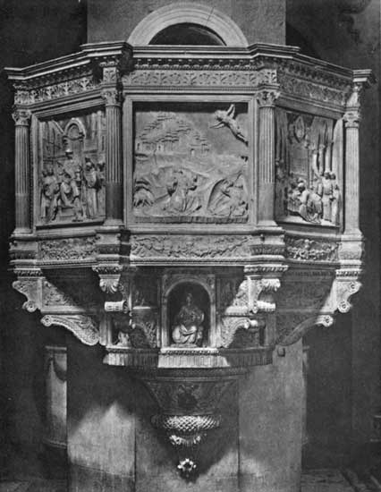 PULPIT IN S. CROCE, FLORENCE