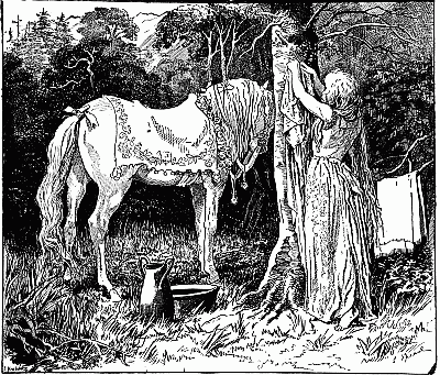 ILLUSTRATION FROM THE RED FAIRY BOOK BY L SPEED LONGMANS GREEN