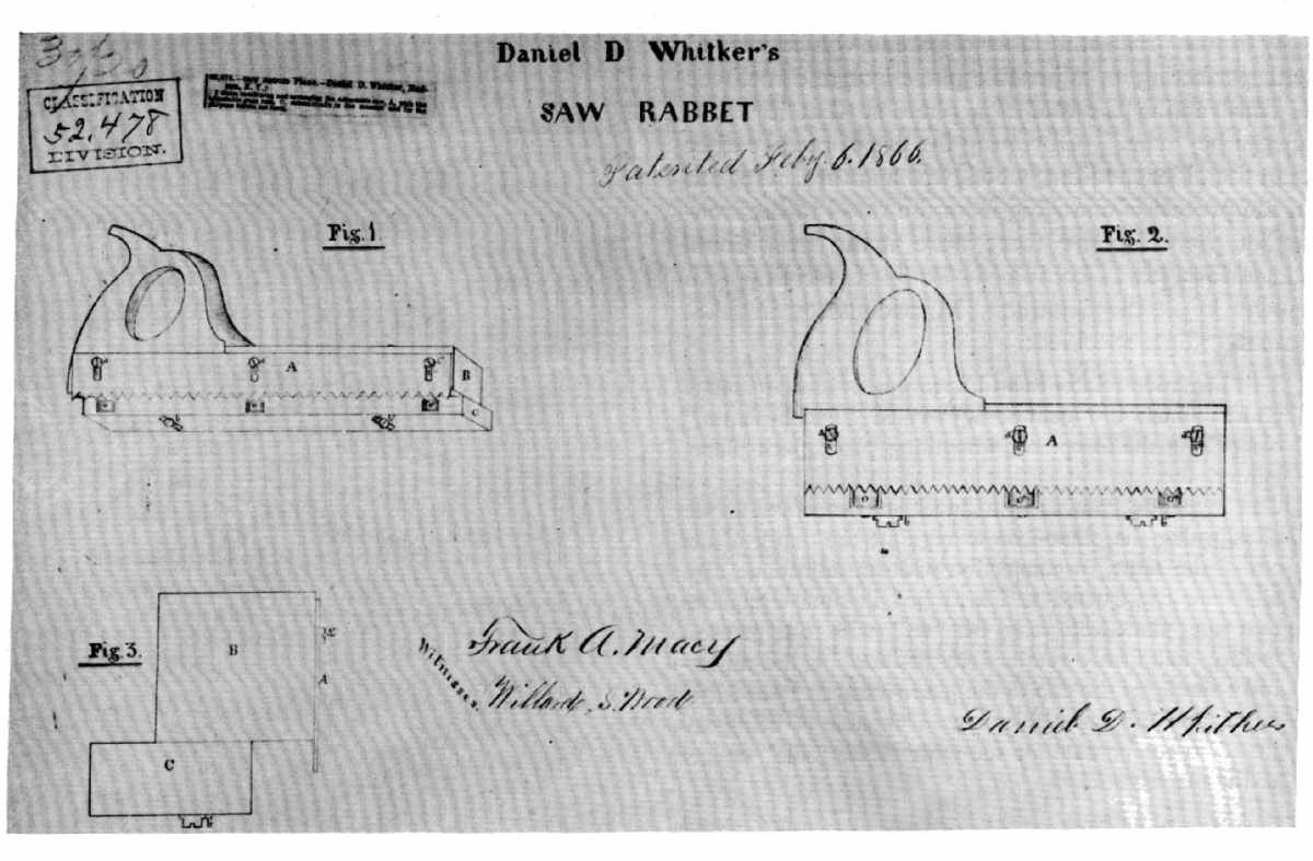 The Project Gutenberg Ebook Of Woodworking Tools 16001900 By Printing Press Diagram As Suggests Figure 611865 Not All Multipurpose Innovations Resulted From Use New Materials Daniel D Whitker Patented A Combination Saw And Rabbet Plane
