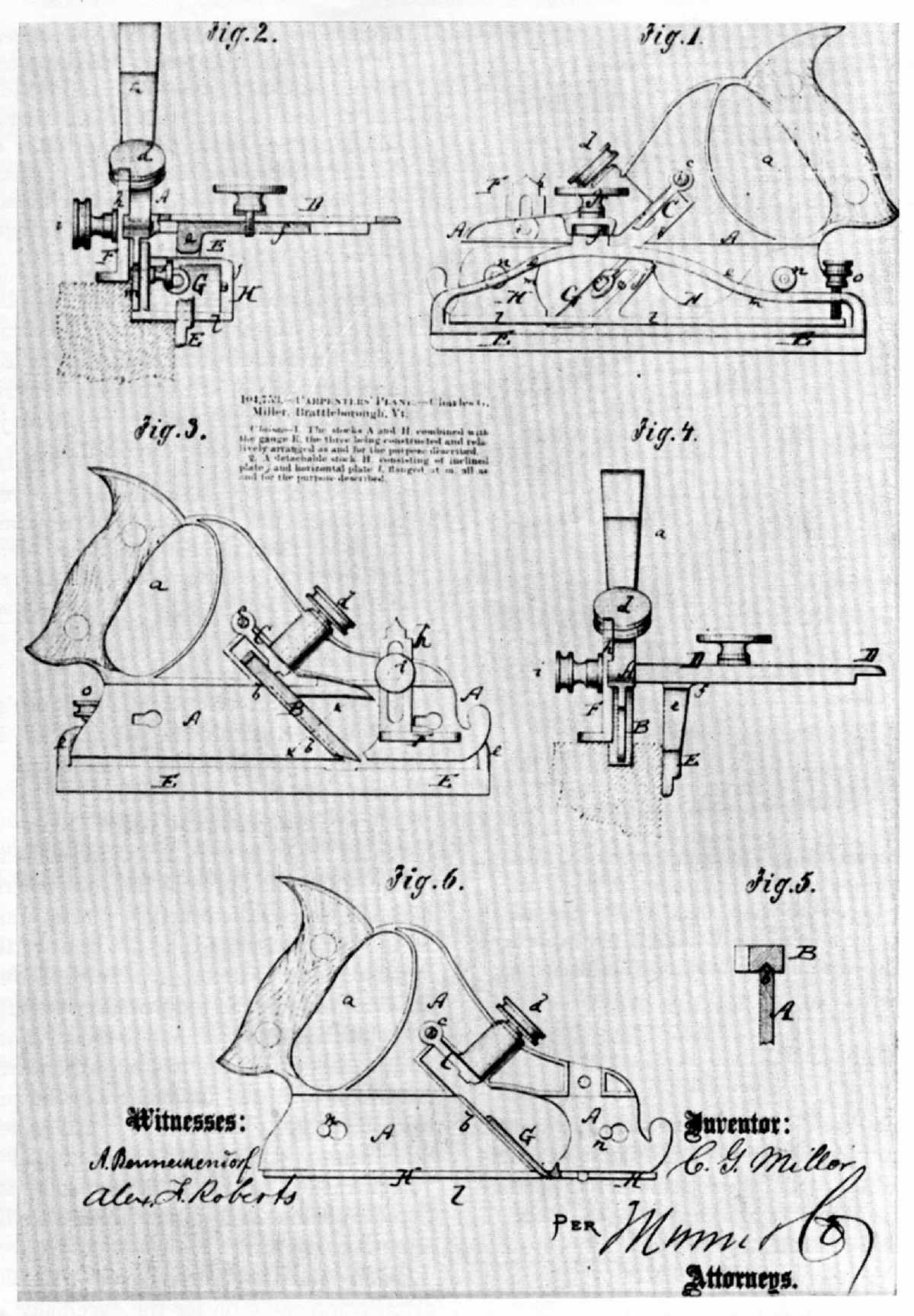 The Project Gutenberg Ebook Of Woodworking Tools 16001900 By Printing Press Diagram As Suggests 1870 Metallic Version Plow Plane Later Produced Stanley And Company Was Patented Charles G Miller A Tool Readily Convertible Into