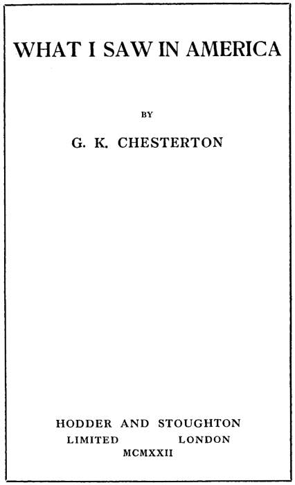 The Project Gutenberg EBook Of What I Saw In America By