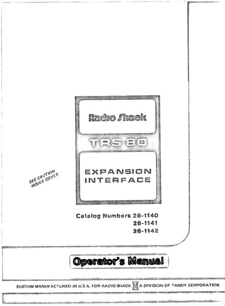 The project gutenberg ebook of radio shack trs 80 expansion radio shack trs 80 expansion interface fandeluxe Choice Image