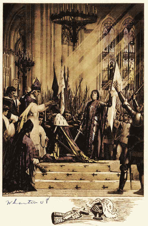 The project gutenberg ebook of the great events by famous historians jeanne darc stands banner in hand during the coronation of charles vii fandeluxe Choice Image