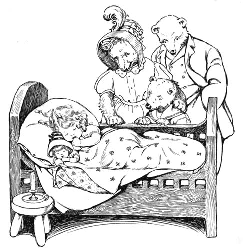 Goldilocks and Three Bears Coloring Pages