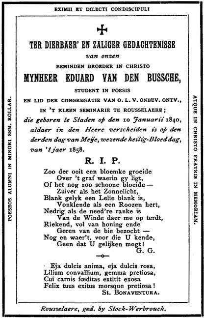 Hedendaags The Project Gutenberg eBook of Kerkhofblommen, by AUTHOR. NG-88