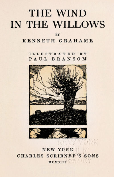 In the Willows by Kenneth Grahame the Wind