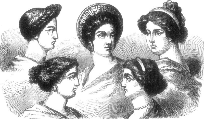Hairstyles in ancient Greece also changed over time.