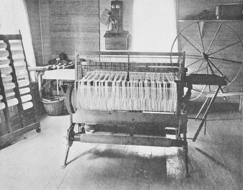 The project gutenberg ebook of how to make rugs by candace wheeler loom warped for weaving fandeluxe Images