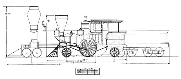 The Project Gutenberg eBook of The Pioneer Light Passenger – Locomotive Engine Diagram Simple