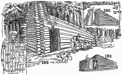 The stages in the evolution of a log cabin.