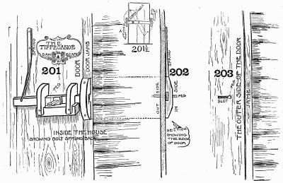 The Tippecanoe. A jack door-latch.