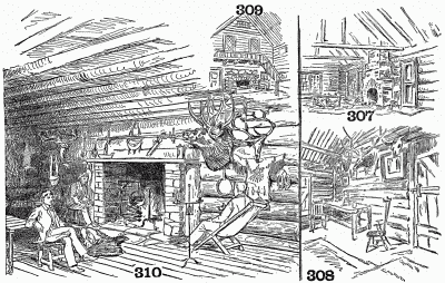 Suggestions for interiors of surprise dens and sketch of Dr. Root's surprise den.