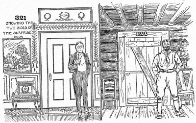 "The ""surprise den."" A log house inside a modern mansion."