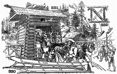Log gate and details of same.