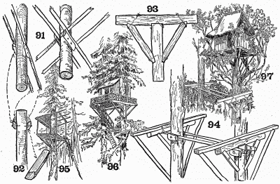 Details of tree-top houses.