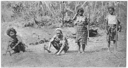Ilongot Men and Women Clearing the Ground for Rice Planting.