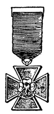'Bronze and Silver Cross for Saving Life.' from the web at 'http://www.gutenberg.org/files/28983/28983-h/images/i39a.jpg'
