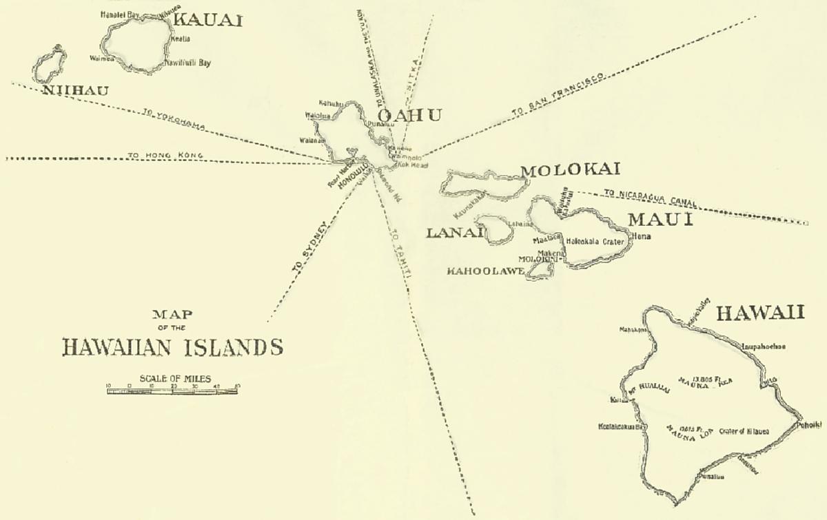 The project gutenberg ebook of the hawaiian islands by the map of the hawaiian islands fandeluxe Gallery